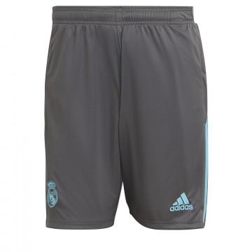 Short entraînement Real Madrid gris bleu 2020/21