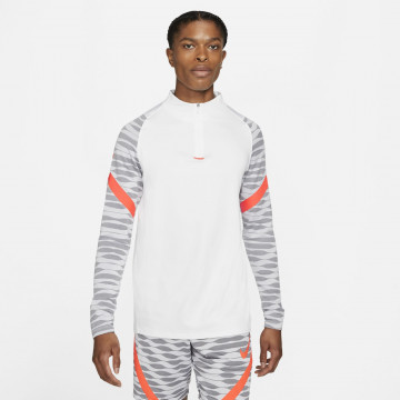 Sweat zippé Nike Strike blanc rouge 2021/22