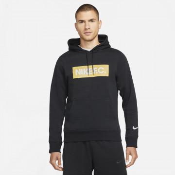 Sweat à capuche Nike F.C. noir jaune