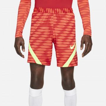 Short entraînement Nike Strike rouge jaune 2021/22