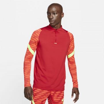 Sweat zippé Nike Strike rouge jaune 2021/22