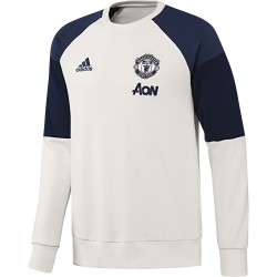Sweat Manchester United blanc et bleu 2016 - 2017