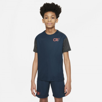 Maillot entraînement junior Nike CR7 bleu noir