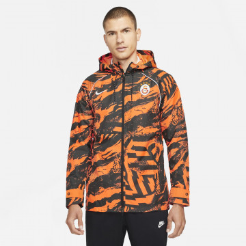 Veste imperméable Galatasaray noir orange 2021/22