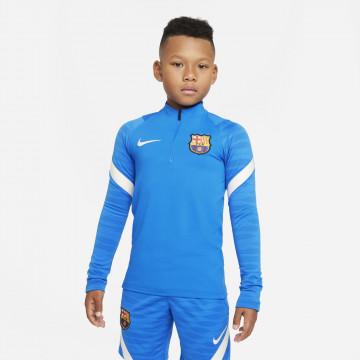 Sweat zippé junior FC Barcelone Strike bleu blanc 2021/22