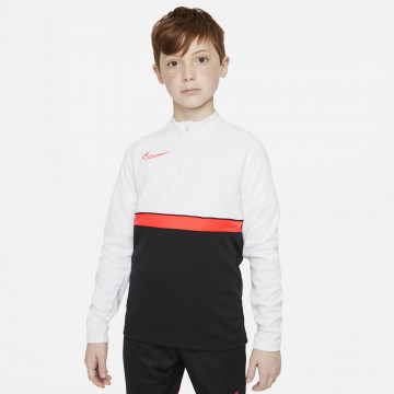 Sweat zippé junior Nike academy blanc rouge
