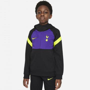 Sweat zippé à capuche junior Tottenham Fleece noir violet 2021/22