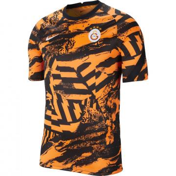 Maillot avant match Galatasaray noir orange 2021/22