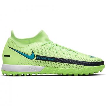 Nike Phantom GT Academy montante Turf vert bleu