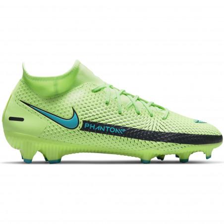 Nike Phantom GT Academy montante FG/MG vert bleu