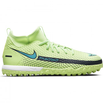 Nike Phantom GT junior Academy montante Turf vert bleu
