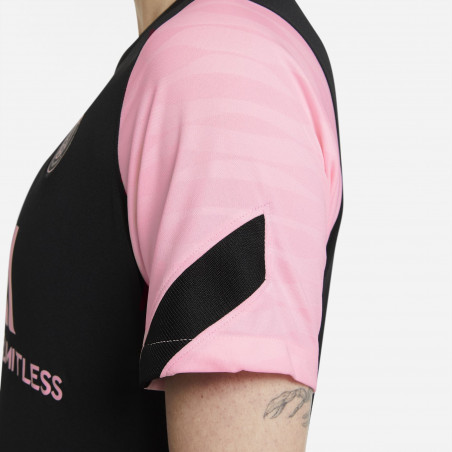 Maillot entraînement Femme PSG noir rose 2021/22