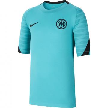 Maillot entraînement junior Inter Milan bleu noir 2021/22