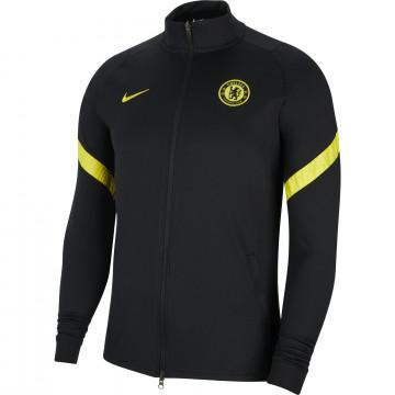 Veste survêtement Chelsea Strike noir jaune 2021/22