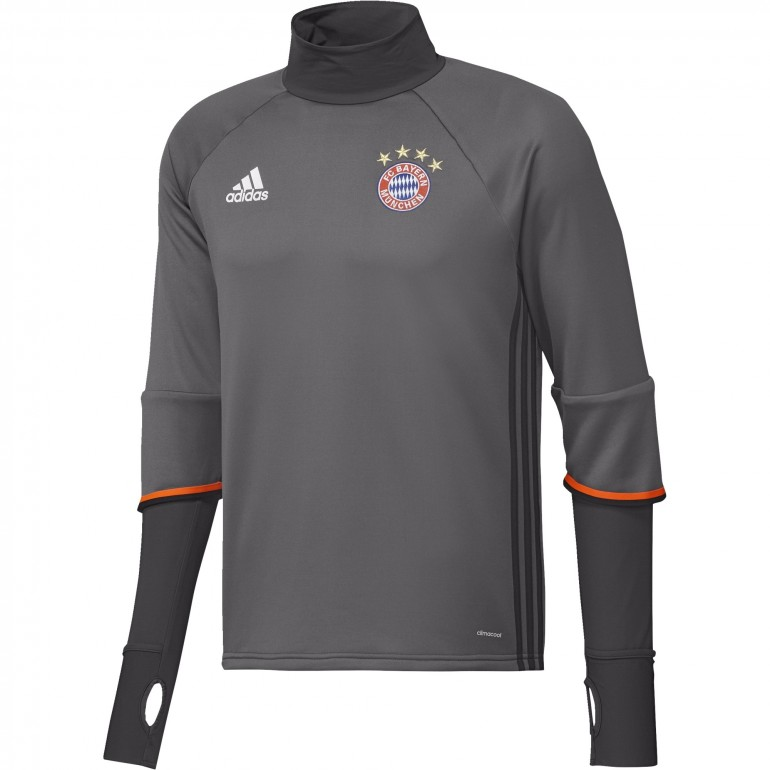Sweat entraînement Bayern Munich gris 2016 - 2017
