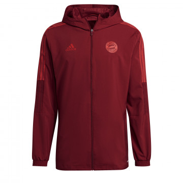 Veste survêtement à capuche Bayern Munich rouge 2021/22