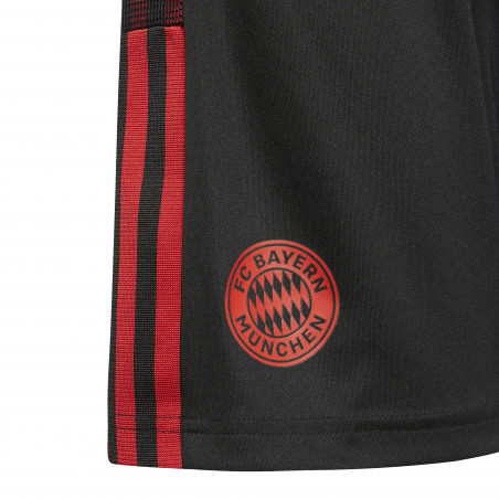 Short entraînement junior Bayern Munich noir rouge 2021/22