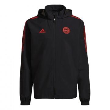 Veste imperméable Bayern Munich noir rouge 2021/22