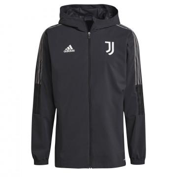 Veste entraînement à capuche Juventus noir 2021/22