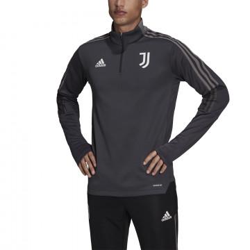 Sweat zippé col montant Juventus gris blanc 2021/22