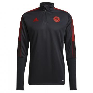 Sweat zippé Bayern Munich noir rouge 2021/22