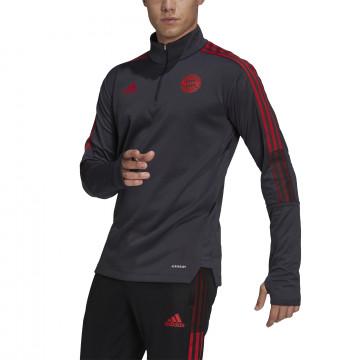 Sweat col montant Bayern Munich noir rouge 2021/22