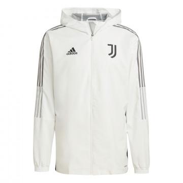 Veste entraînement à capuche Juventus blanc noir 2021/22