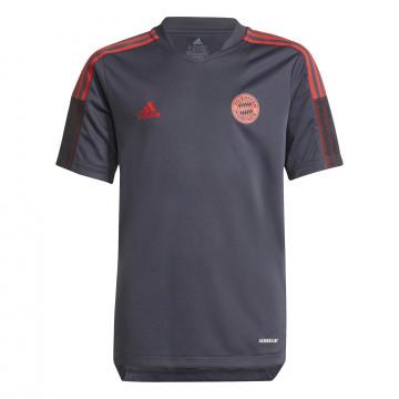 Maillot entraînement junior Bayern Munich noir rouge 2021/22