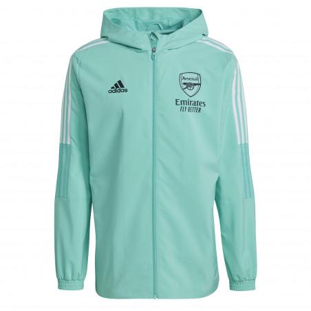 Veste entraînement à capuche Arsenal vert 2021/22