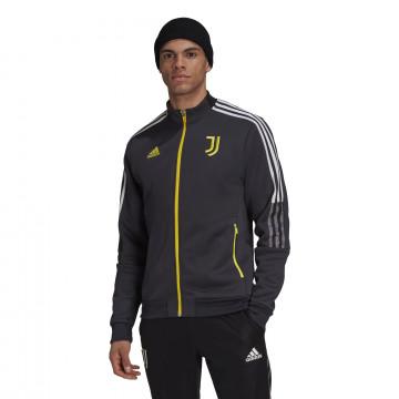 Veste survêtement Juventus Anthem noir jaune 2021/22