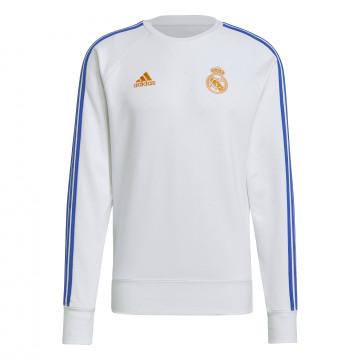 Sweat Real Madrid blanc orange 2021/22