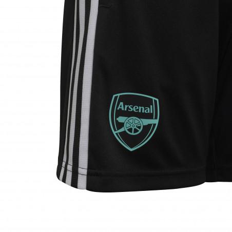 Short entraînement junior Arsenal noir vert 2021/22