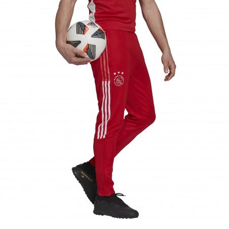 Pantalon survêtement Ajax Amsterdam rouge blanc 2021/22