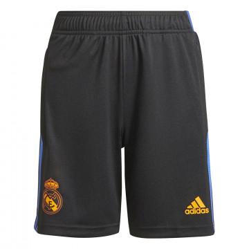 Short entraînement junior Real Madrid noir orange 2021/22