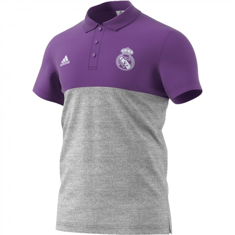 Polo Real Madrid Violet et Gris