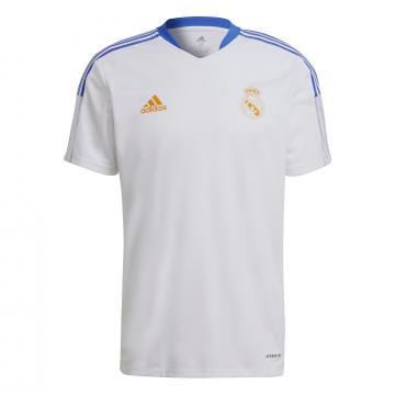 Maillot entraînement Real Madrid blanc orange 2021/22
