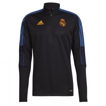 Sweat zippé Real Madrid noir orange 2021/22