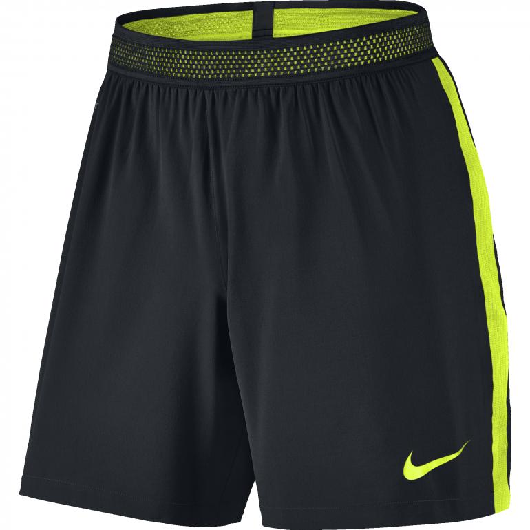 Short Flex Strike Nike noir jaune face