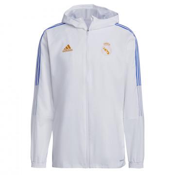 Veste survêtement Real Madrid blanc orange 2021/22