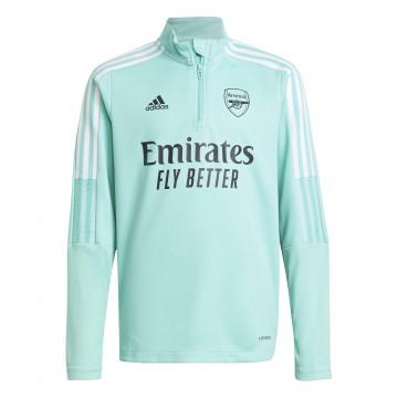 Sweat zippé junior Arsenal vert 2021/22