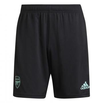 Short entraînement Arsenal noir vert 2021/22