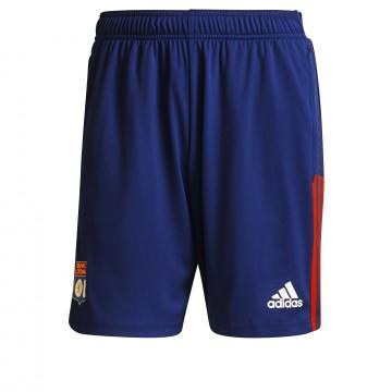 Short entraînement Olympique Lyonnais bleu rouge 2021/22