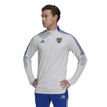 Sweat zippé Boca Juniors gris bleu 2021