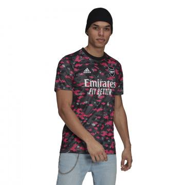 Maillot avant match Arsenal noir rose 2021/22
