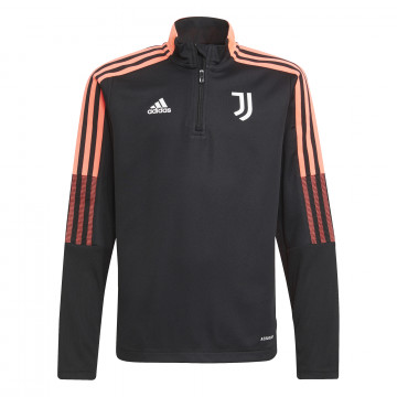 Sweat zippé junior Juventus noir rose 2021/22