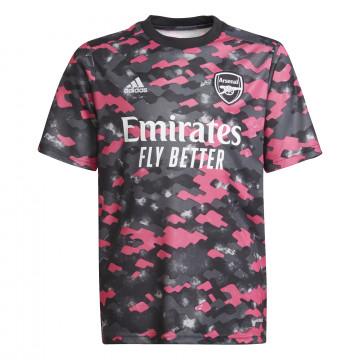 Maillot avant match junior Arsenal noir rose 2021/22
