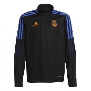 Sweat zippé junior Real Madrid noir orange 2021/22