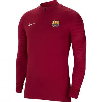 Sweat zippé FC Barcelone Strike rouge 2021/22