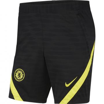 Short entraînement Chelsea Strike noir jaune 2021/22