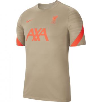 Maillot entraînement Liverpool Strike beige rouge 2021/22